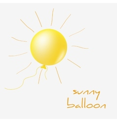 Sunny balloon vector image vector image