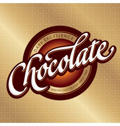 chocolate packaging design vector image
