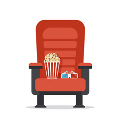 cinema seat isolated on white vector image