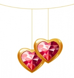 collection of different heart shapes vector image