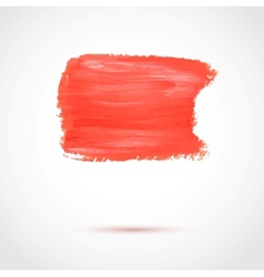 Colorful red abstract paint banner vector image