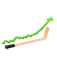 hockey stick growth vector image vector image