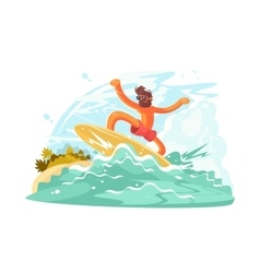 Surfer guy in sunglass vector image