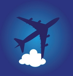 airplane5 vector image