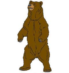 Bear mascot logo vector