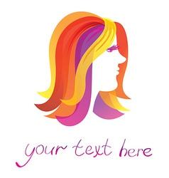 beauty logo - pretty woman - vector image