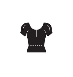 blouse black concept icon blouse flat vector image