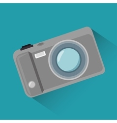 Cartoon photo camera blue background design vector