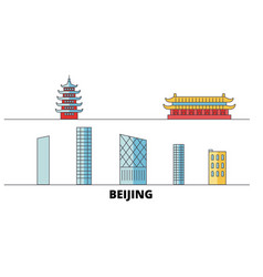 china beijing city flat landmarks vector image