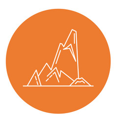 cliff with ledges icon in thin line style vector image