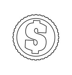 Coin of money vector