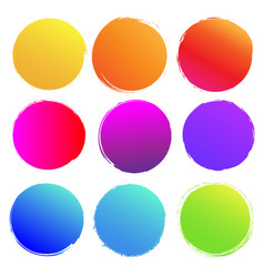 Colorful blobs big set isolated white background vector