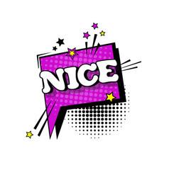 comic speech chat bubble pop art style nice vector image