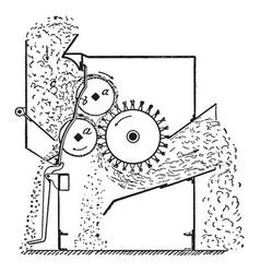 Cotton manufacture vintage vector
