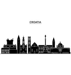 croatia architecture city skyline travel vector image