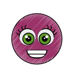 Cute cartoon face vector