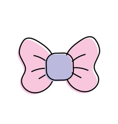 Cute riibon bow decoration design vector