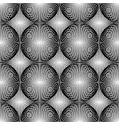 Design seamless monochrome circular pattern vector image