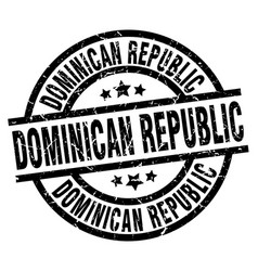 Dominican republic black round grunge stamp vector