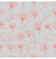 Doodle pattern bow ribbon vector