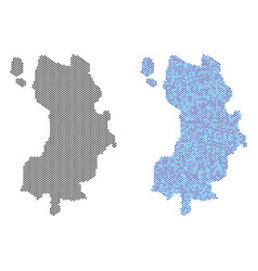 Dotted koh tao thai island map abstractions vector