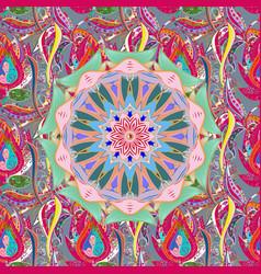 East islam mandala colored background arabic vector