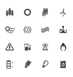 Energy industry icons vector