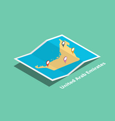 explore united arab emirates maps with isometric vector image