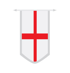 flag of england on a banner vector image