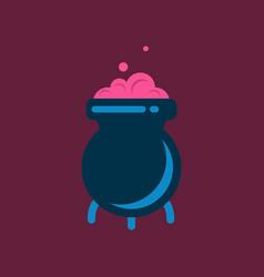 flat icon stylish background cauldron witches vector image