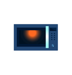 flat microwave oven icon isolated vector image