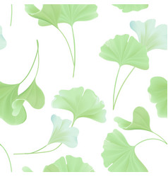 Floral seamless pattern with japanese gingko vector