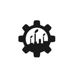 Gear factory logo icon design template isolated vector