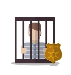 Guilty inside jail law and justice design vector