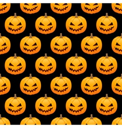 Halloween pumpkins seamless background vector