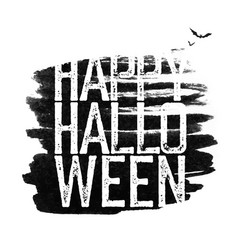 Happy halloween holiday logotype vector
