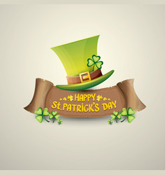 Happy saint patricks day label vector