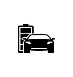 hybrid car flat icon vector image