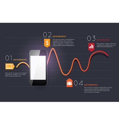 Infographic smart phone design icons text concept vector image
