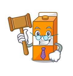 Judge package juice mascot cartoon vector