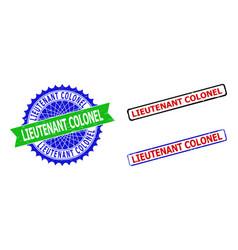 Lieutenant colonel rosette and rectangle bicolor vector