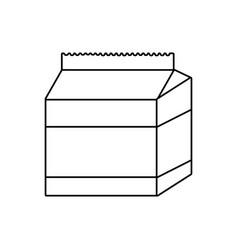 line fresh milk box healthy product vector image