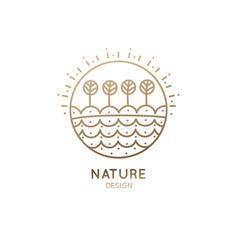 logo garden vector image