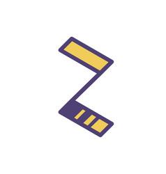 logo sign letter z linear outline icon vector image