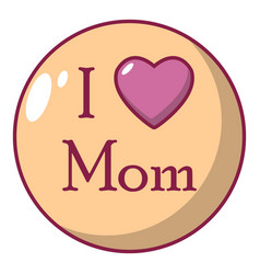 love mother icon cartoon style vector image