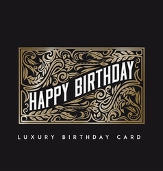Luxury Birthday Card vector