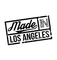 Made in los angeles rubber stamp vector