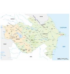 Map caucasus states armenia and azerbaijan vector