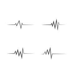 Medical heartbeat pulse icon vector