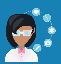 medical service design vector image